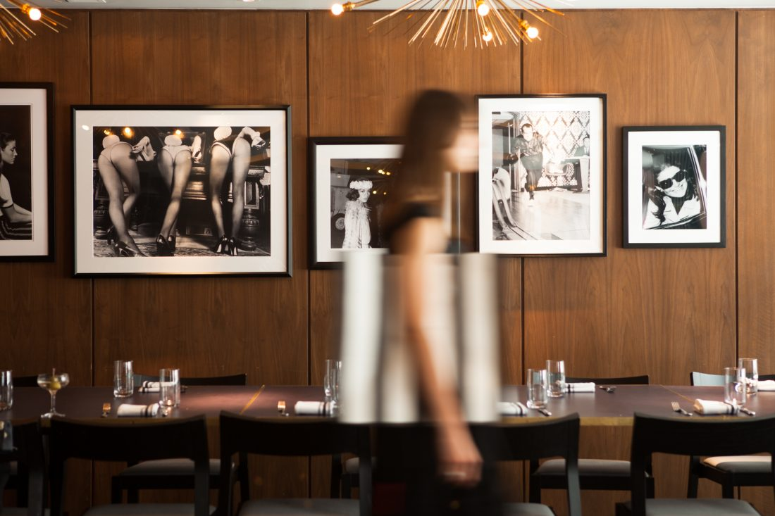 Wayfarer restaurant and bar at Quin hotel in midtown Manhattan, New York City near Central Park, hospitality