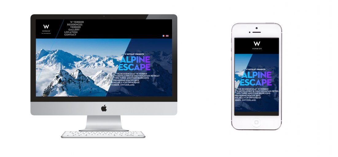 interactive web design and content development for desktop and mobile device, hospitality branding solutions