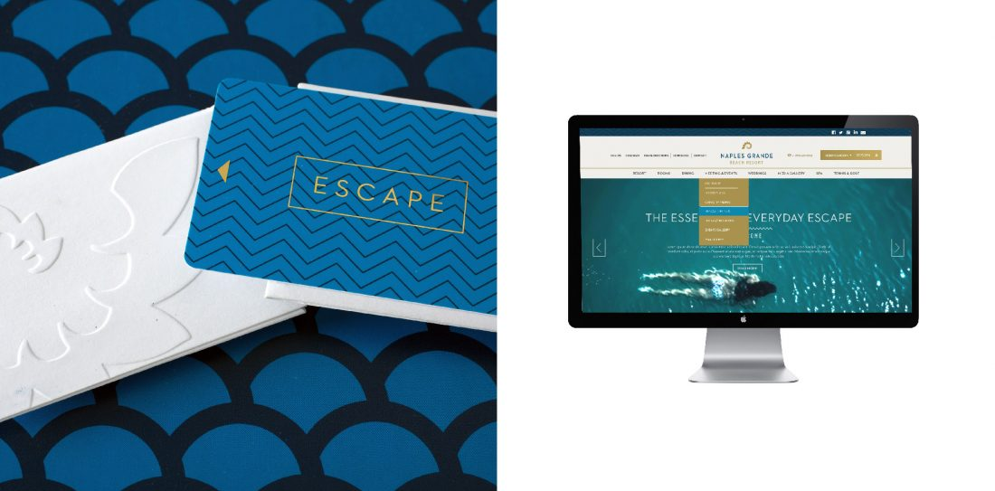 hotel guest room keycard and sleeve, hospitality website design, UX, UI, user experience and interface design