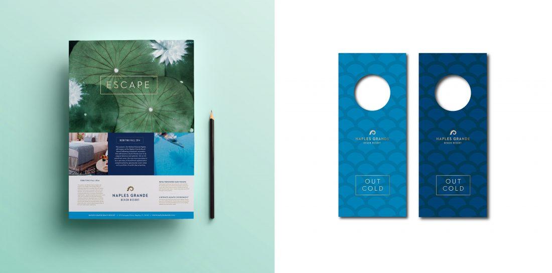 fact sheet design by full service creative branding agency, hotel guest room do not disturb DND door hanger